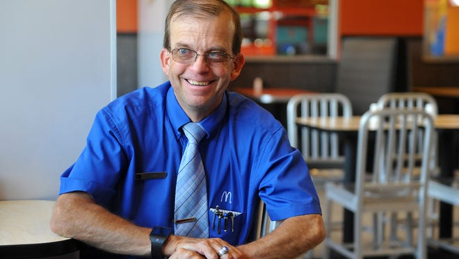 Keith Eakland has worked for McDonald's for thirty years, and the restaurant will publicly honor his years of service at the Voyagers game on August 26.