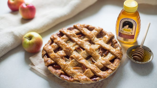 Michigan Honey Pie made with Michigan Northern Spy apples is the newest pie variety at Grand Traverse Pie Co. stores