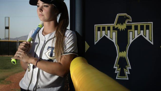 Coronado slugger Abigale Carney has helped her team with her bat this season.