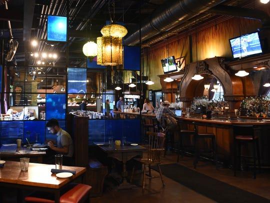 Dining and bar area inside Saffire Restaurant and Bar