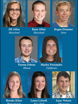 Eight finalists were named in the Holstein Association USA's Young Distinguished Junior Member competition. They will be honored at the National Holstein Convention in Washington this summer.