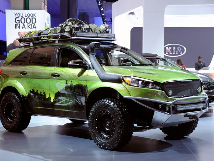 Excellent KIA Sorrento Concept Vehicle At The 2015 Los Angeles