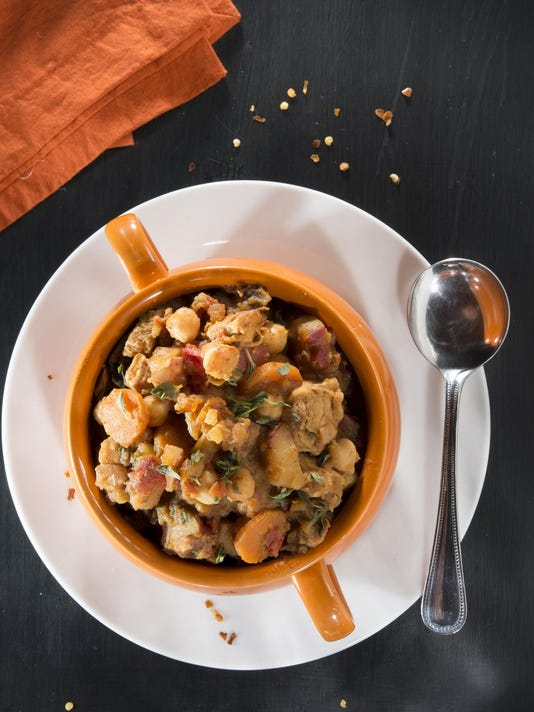 This Chicken and Garbanzo Bean Stew is low on fat but high on taste