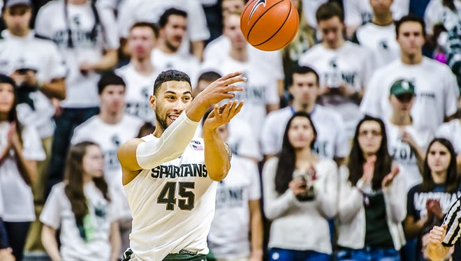 MSU will be without leading scorer, rebounder and assist man Denzel Valentine for 2-3 weeks, after Valentine suffered a knee injury on a layup during practice Sunday.