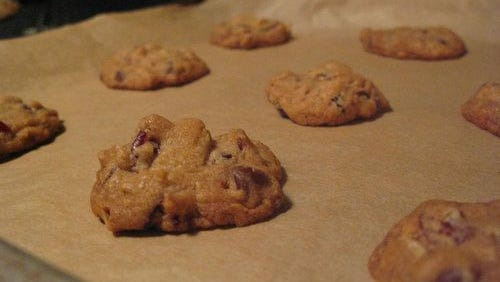 Cranberry oatmeal and chocolate chip cookies.