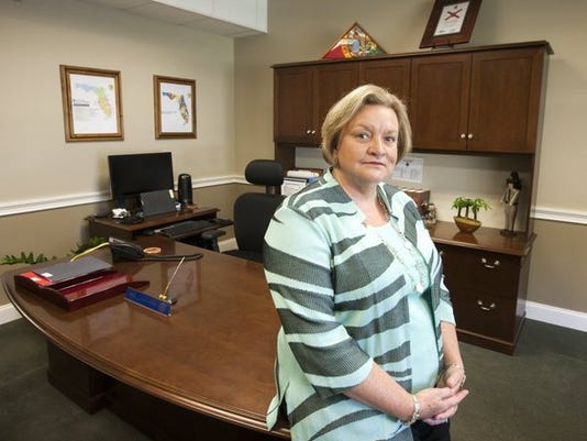 Julie Jones, Secretary of the Florida Department of Corrections in her office in the Carlton Building in downtown Tallahassee, Florida October 15, 2015. (Mark Wallheiser/Special to the Daily News)