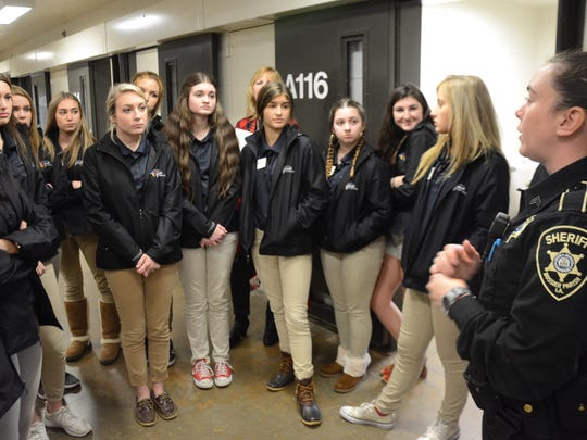 Bossier Sheriff Julian Whittington hosted students