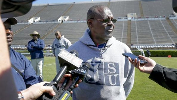 Coach Tony Hughes and his Jackson State Tigers held