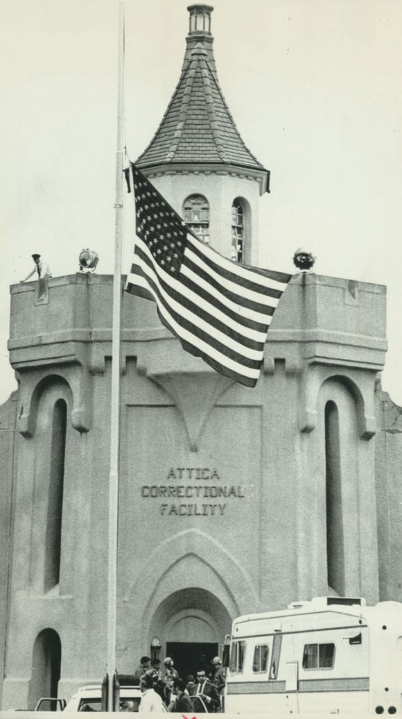 THE FLAG IN FRONT OF ATTICA CORRECTIONAL FACILITY FILES