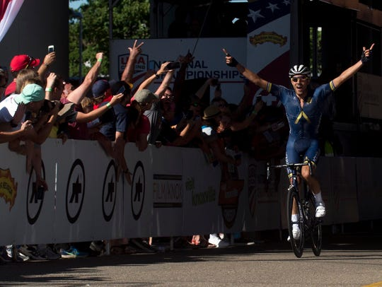 Larry Warbasse wins the the USA Cycling National Road