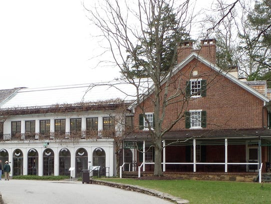 An exterior view of Pierre du Pont's house at Longwood