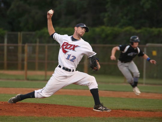 St. Cloud Rox pitcher Trevor Charpie delivers in a