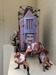 Thomas Wargin and his sculptures will appear at this weekend's Bonita Springs National Art Festival.
