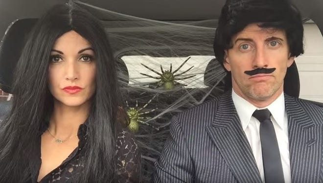 Screenshot from Kristin and Danny's Halloween lip sync.