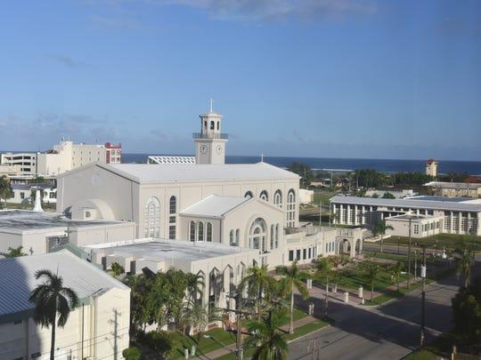 A view of the Dulce Nombre de Maria Cathedral-Basilica