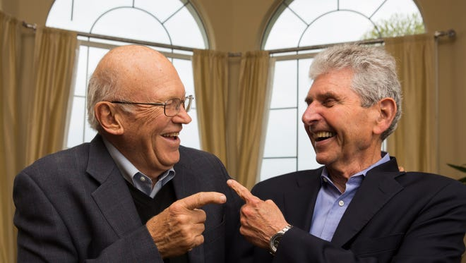 Co-authors Ken Blanchard, left, 75, and psychologist Morton Shaevitz, 79.