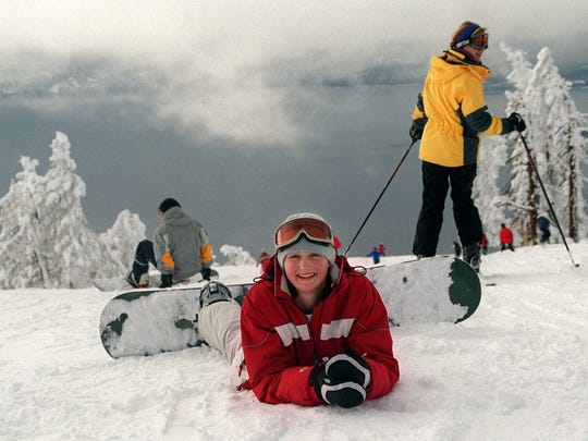 Tamara Stanbury of Incline Village takes a break while waiting for friends at Diamond Peak.