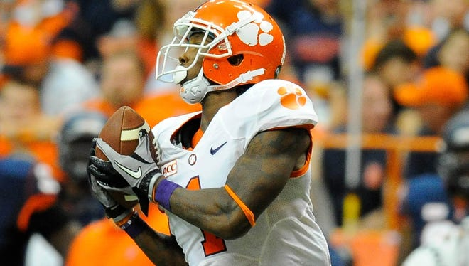Martavis Bryant tops Clemson's regulars with an average of 18.6 yards on his 17 catches.