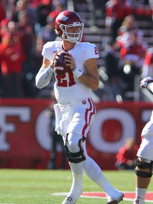 Richard Lagow passed for nearly 400 yards in leading IU to victory over Rutgers.