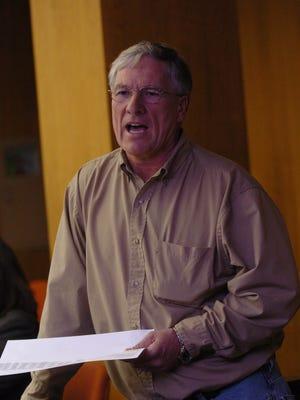 Former Ball Mayor Roy Hebron speaks at a Rapides Parish Police Jury meeting in 2008.