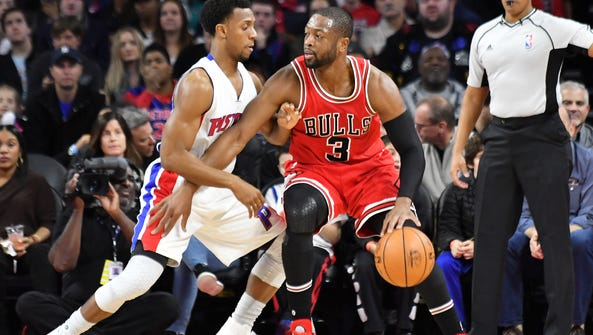 The Bulls' Dwyane Wade is averaging 19.9 points a game.