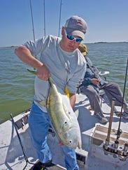 Eddie Smith caught this jack crevalle while fishing