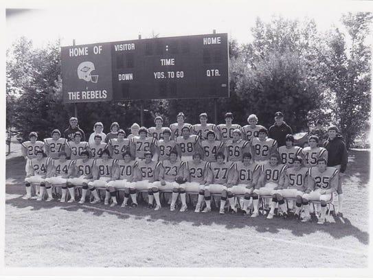 The 1986 Football team with Coach Jordan, Coach Picard