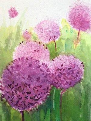 """Allium,"" a watercolor by Dustan Knight"