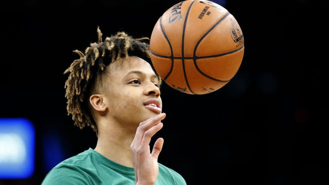 Celtics guard Romeo Langford has missed a lot of time during his rookie season due to injuries.