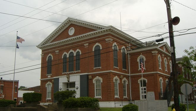 Court house in Morganfield.
