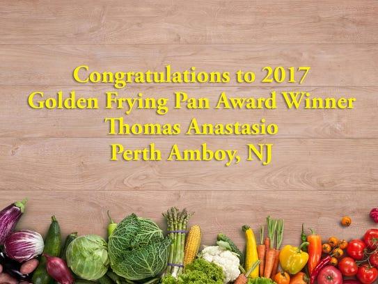Thomas Anastasio of Perth Amboy was awarded the Golden