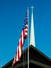 Flag dedication at Grace Lutheran Church