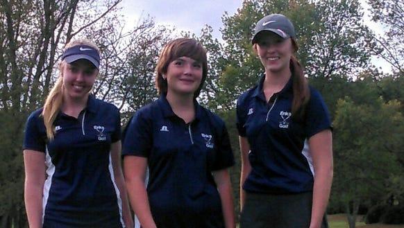 Enka golfers Kaitlinn Stewart, Jasmine Donaghue and