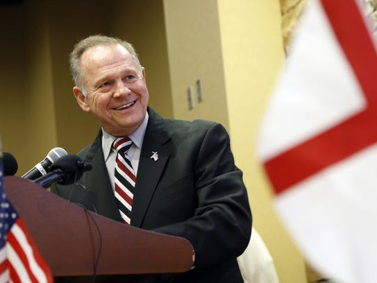 Senate candidate Roy Moore, a former Alabama chief