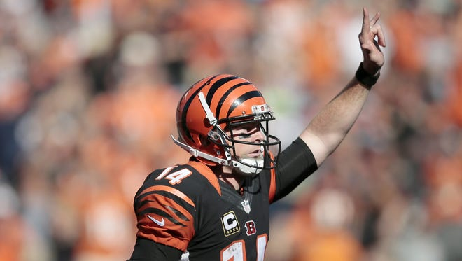 Quarterback Andy Dalton is the first half MVP for the unbeaten Bengals.