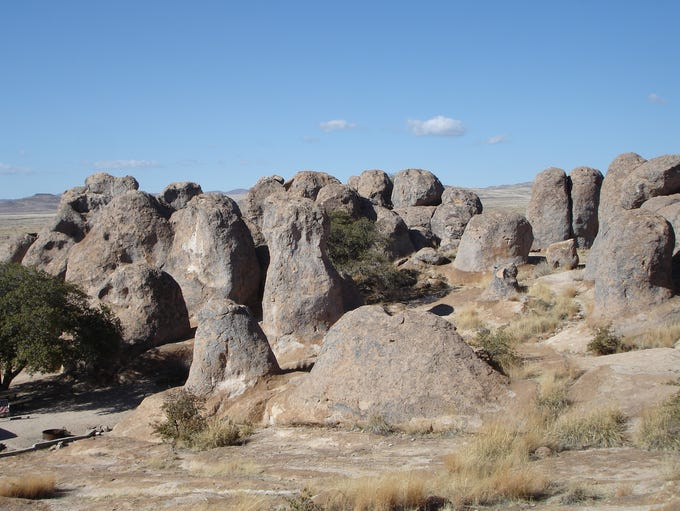 Pinnacles and monoliths at City of Rocks State Park
