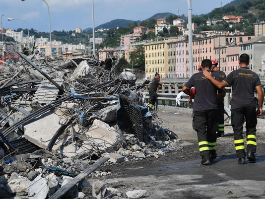 EPA ITALY GENOA BRIDGE COLLAPSE AFTERMATH DIS DISASTERS (GENERAL) ITA
