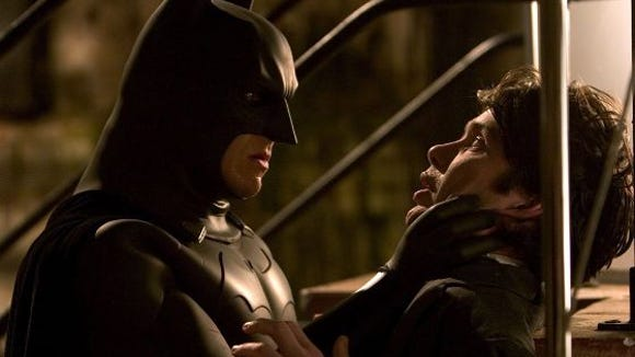 Christopher Nolan's relaunch of the Batman franchise, Batman Begins, has become the film by which all other reboots are measured. It starred Christian Bale as Bruce Wayne/Batman, shown here with Cillian Murphy as Dr. Jonathan Crane/Scarecrow.