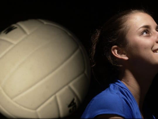 Canterbury senior Brooke Youngquist is the 2003 Volleyball player of the year.