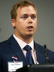 Tyler Hobbs, one of two Republican primary candidates