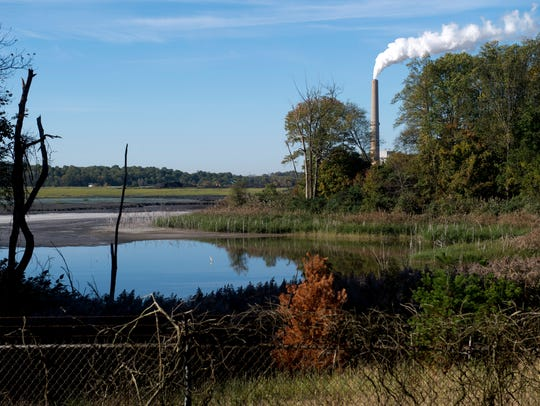 Vectren's coal ash pond at the A.B. Brown Generating
