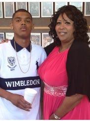 Michael J. Prescott and his mother, Pastor Rosslind