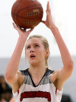 Shorewood senior Natalie Tomaszewski helped the Greyhounds clinch their fourth Woodland East title in five seasons.