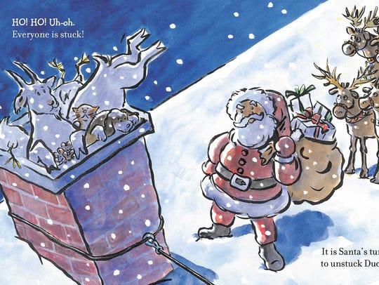 A page from 'Click,Clack, Ho! Ho! Ho!'