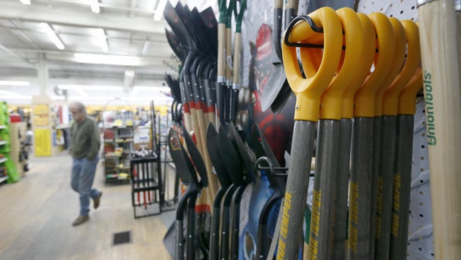 Tools for industrial and commercial construction at Cook Iron Store on St. Paul Street downtown.
