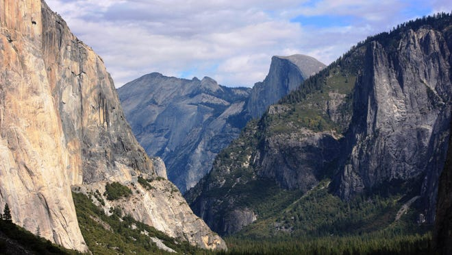 This Oct. 2, 2013 file photo shows a view seen on the way to Glacier Point trail in the Yosemite National Park, Calif.