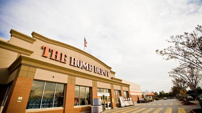 Sales are surging for the home-improvement retailer as people spend more time at home.