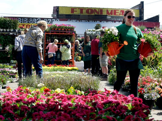 The 48th Annual Flower Day at Eastern Market in Detroit, Sunday May 18, 2014.