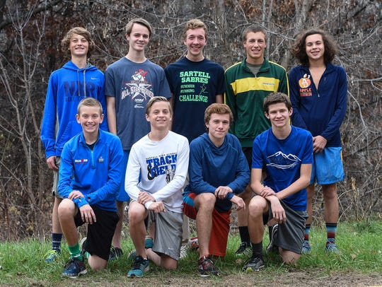 Sartell cross country team members are, front row,
