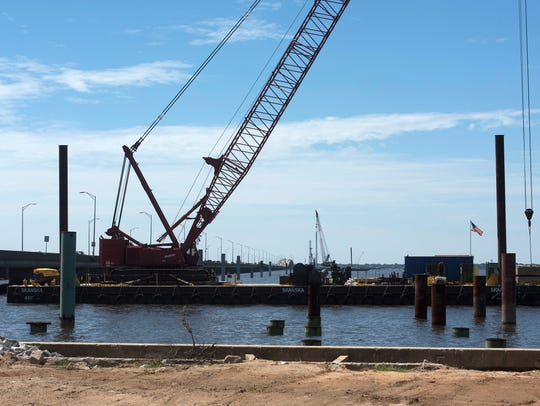 Work on the Pensacola Bay Bridge replacement continues.